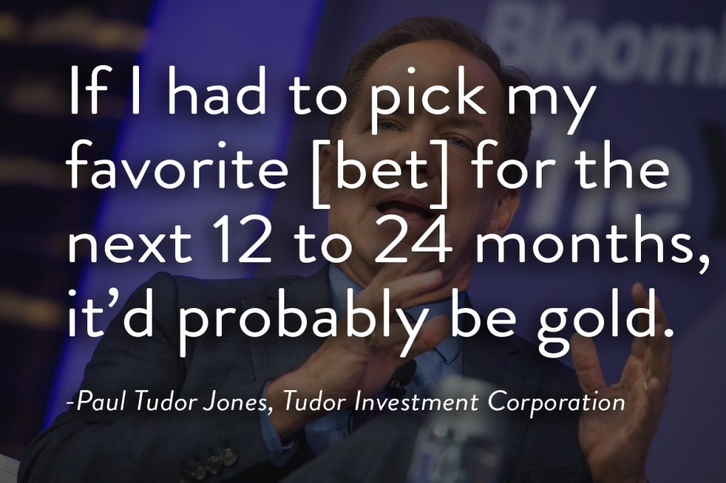 Paul Tudor Jones Investment Gold